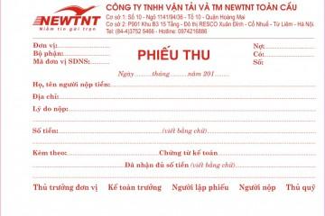 In phiếu thu, phiếu chi tại Hà Nội