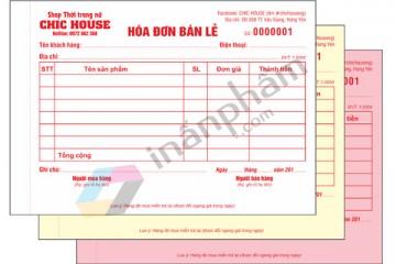 In hóa đơn bán lẻ đẹp tại Hà Nội